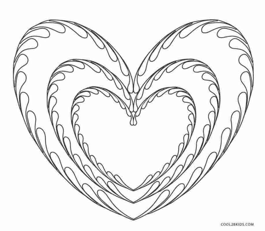 heart coloring pages print free printable heart coloring