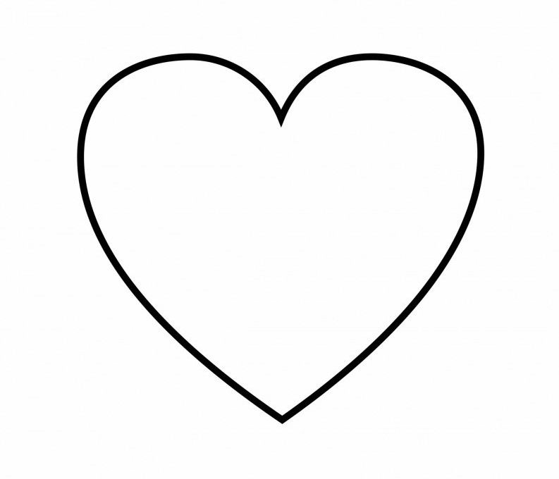 heart shaped coloring pages tryonshorts shape
