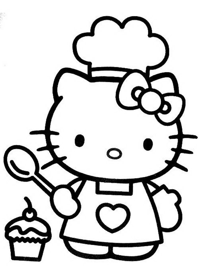 hello kitty coloring pages hello kitty cuoca hello kitty