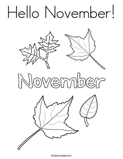 hello november coloring page twisty noodle