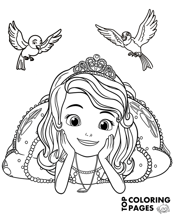 high quality princess sofia coloring pages to print for free