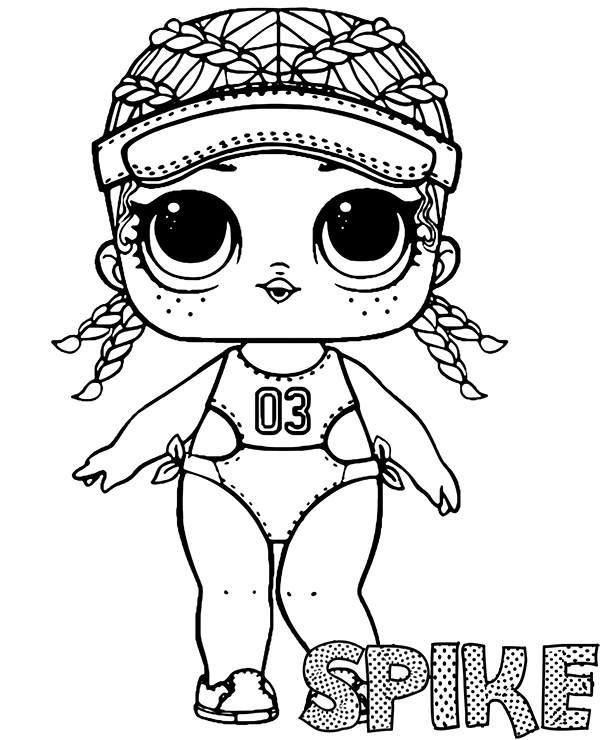 high quality spike doll coloring page lol surprise