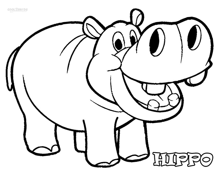 hippo clipart coloring picture 79240 hippo clipart coloring