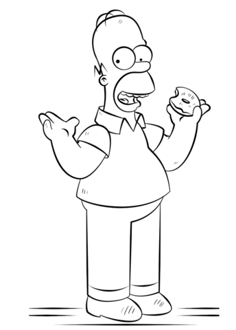 homer simpson coloring page free printable coloring pages