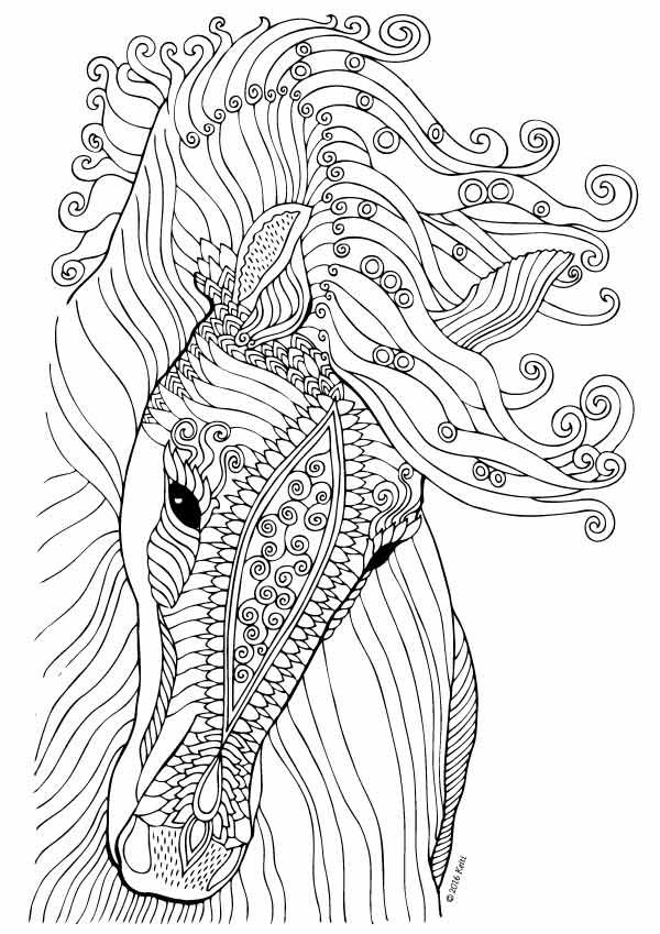 horse coloring page illustration keiti horse coloring