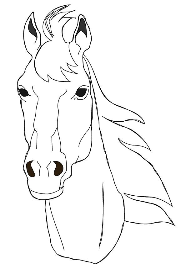 horse coloring pages free horse face coloring page