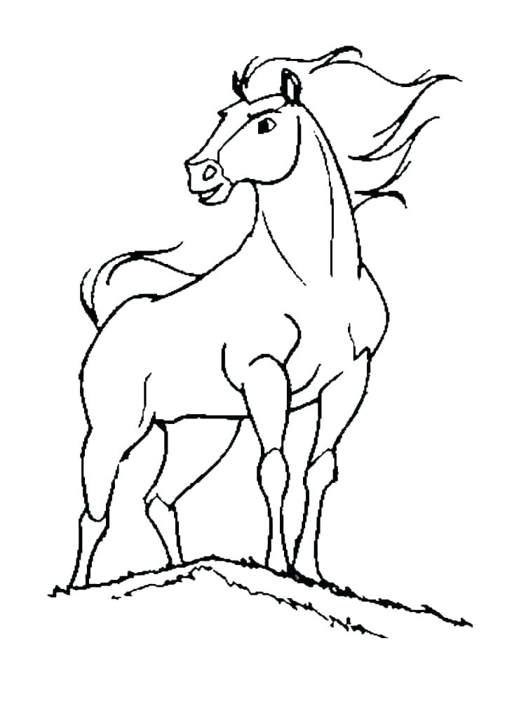 horse coloring pages printable free spirit and rain tesopro
