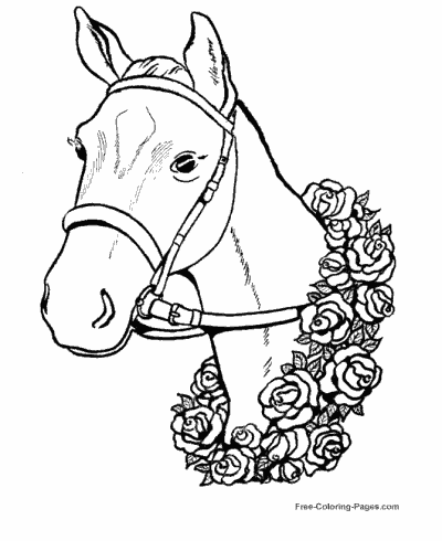 horse coloring pages sheets and pictures