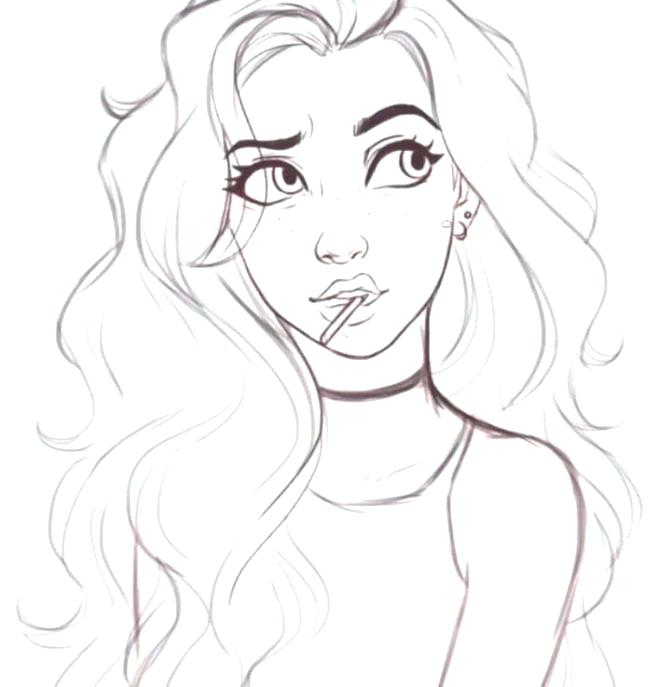 hot girl coloring pages at getdrawings free for