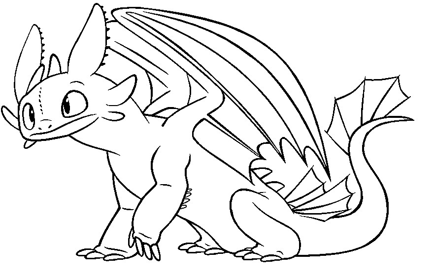 how to train your dragon coloring pages toothless at
