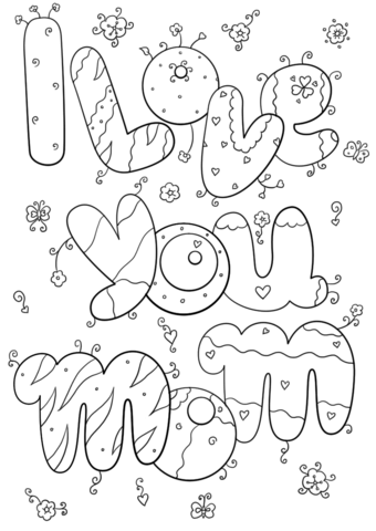 i love you mom omalovnka free printable coloring pages
