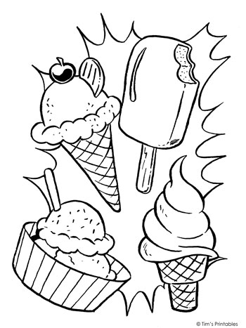 ice cream coloring page tims printables
