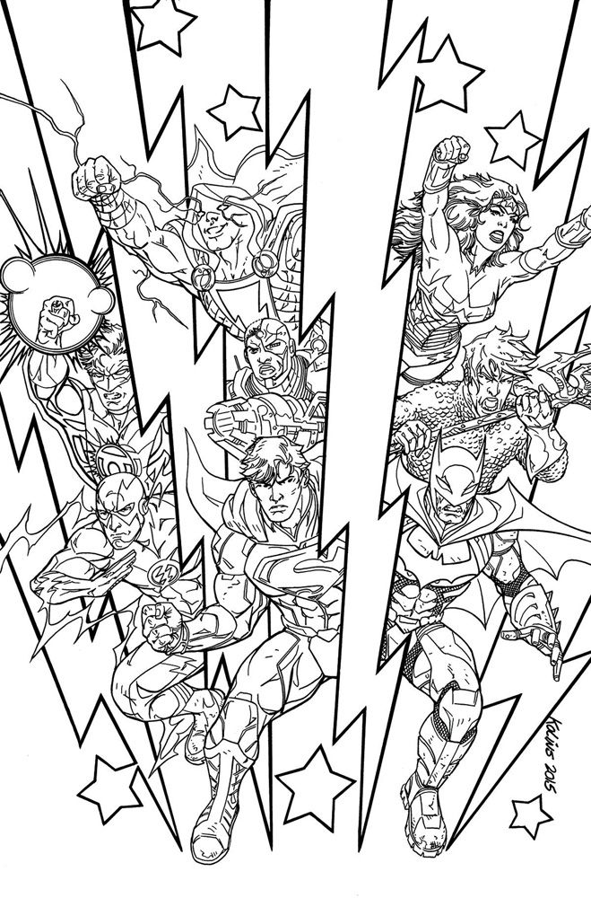image justice league 48 dcu variant adult coloring book