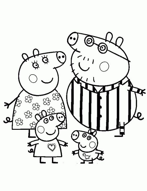 image result for nick jr coloring pages peppa pig coloring