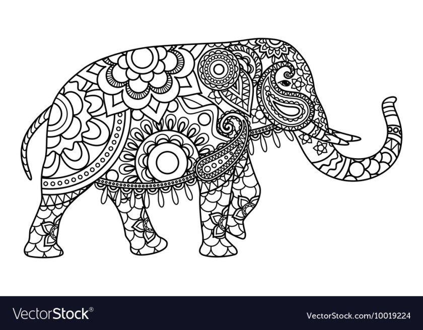 indian elephant coloring pages template
