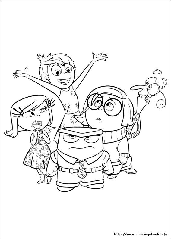inside out coloring picture dibujos para colorear inside