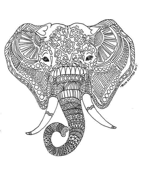 intricate elephant coloring pages free coloring pages of