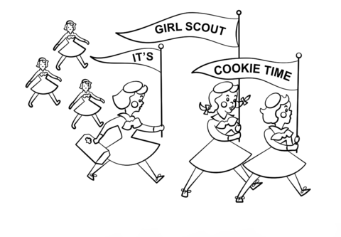 its girl scout cookie time coloring page free printable