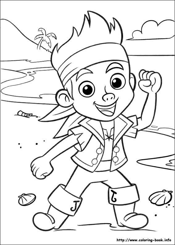 jake and the never land pirates coloring picture pirate