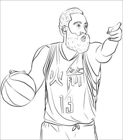 james harden coloring page free printable coloring pages