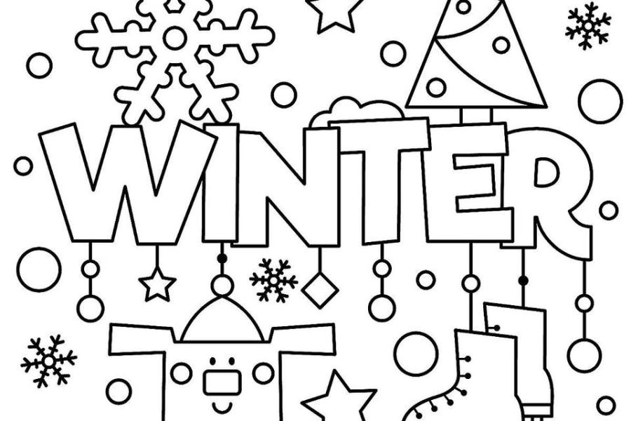 january themed coloring pages