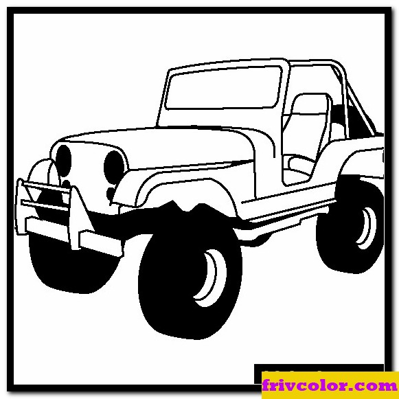 jeep cj friv free coloring pages for children