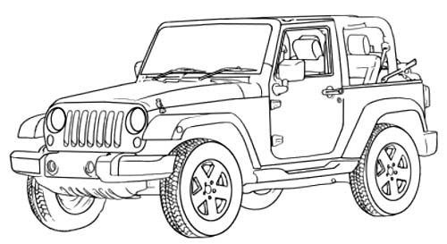 jeep wrangler off road coloring page off road car car