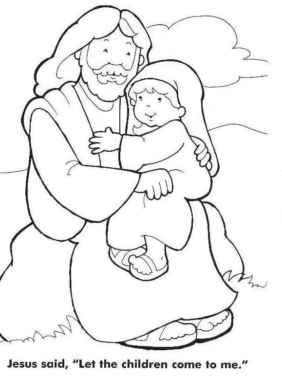 jesus loves the little children coloring page sunday