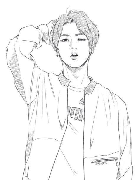 jimin bts drawing coloring pages bts drawings jungkook