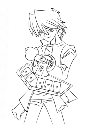 joey wheeler from yu gi oh coloring page free printable