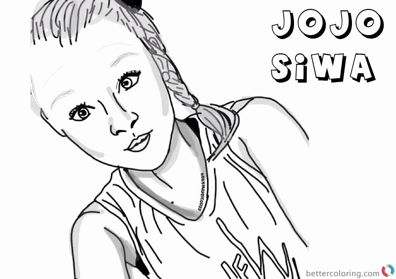 jojo siwa coloring page lovely printable jojo siwa coloring