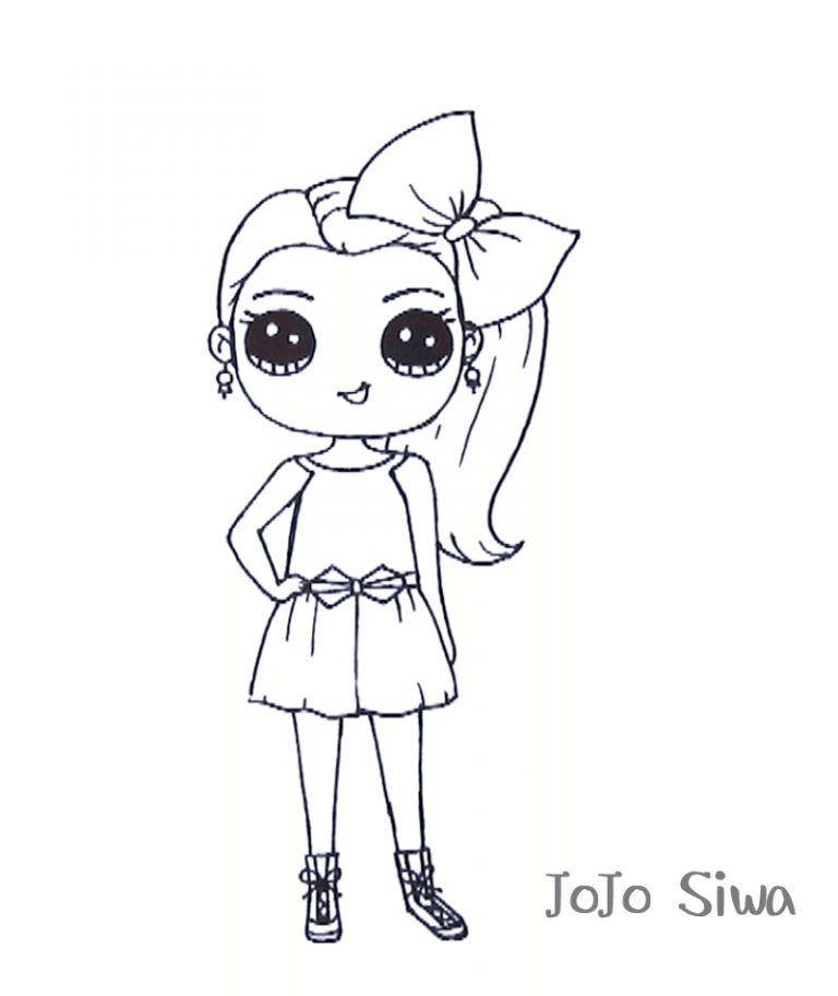 jojo siwa coloring sheets free printable coloring pages
