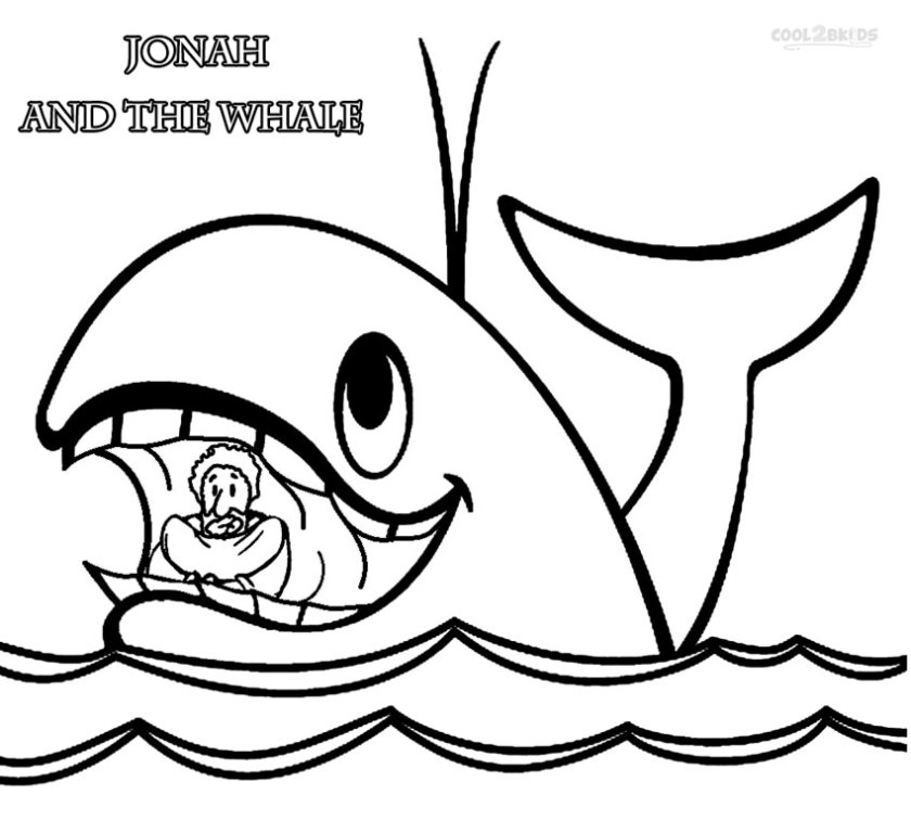 jonah and the whale coloring pages free