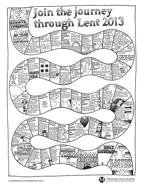 journey through lent coloring page catholic lent lent