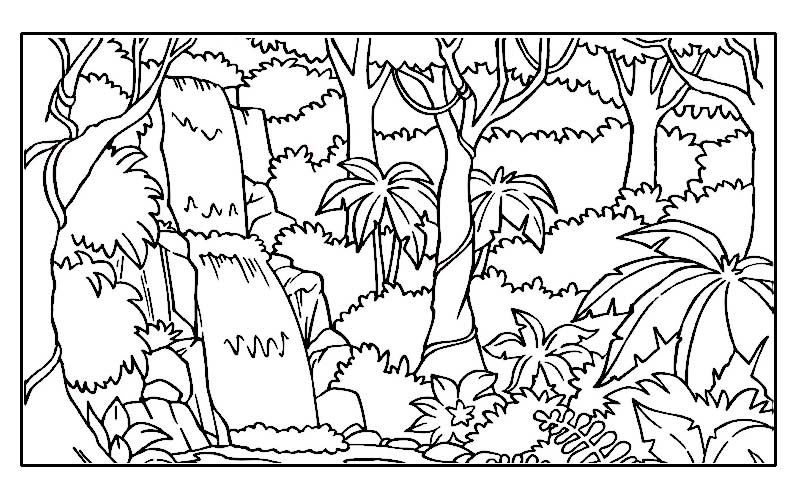 jungle coloring pages at getdrawings free for personal
