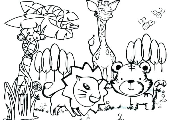 jungle free coloring pages vintagerigs
