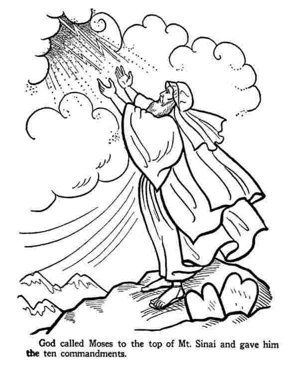 just coloring coloring pages moses ten commandments ten