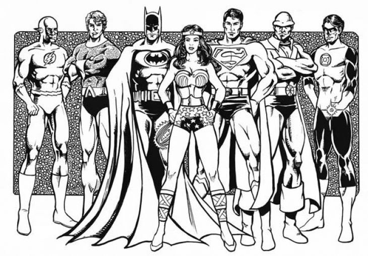 justice league justice league super coloring pages