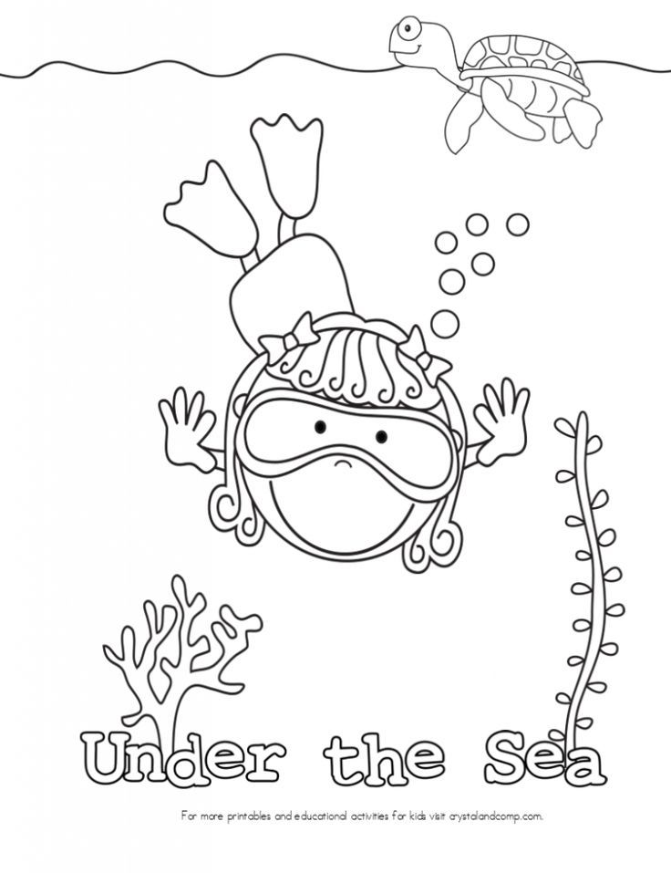 kid color pages under the sea ocean coloring pages under