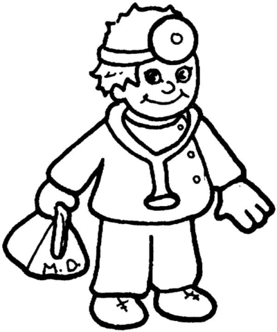 kid is a doctor coloring page free printable coloring pages