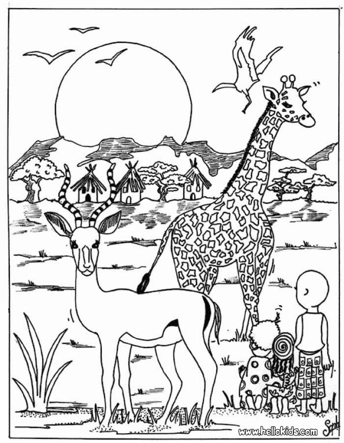 kids and elephant coloring pages hellokids