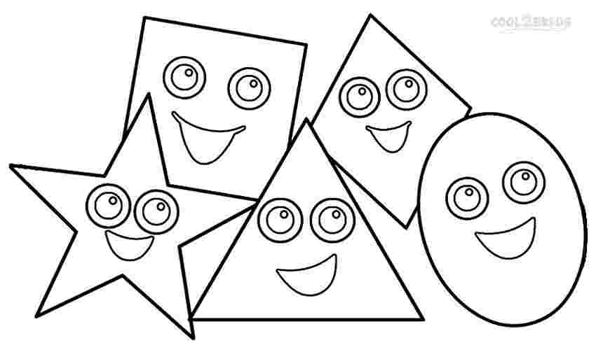 kids free coloring pages shapes pomorski