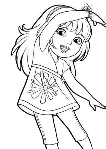 kids n fun 6 coloring pages of dora and friends