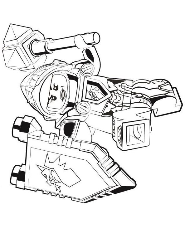 kids n fun coloring page lego nexo knights macy
