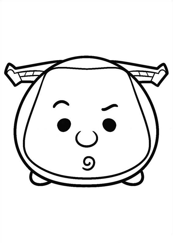 kids n fun coloring page tsum tsum buzz