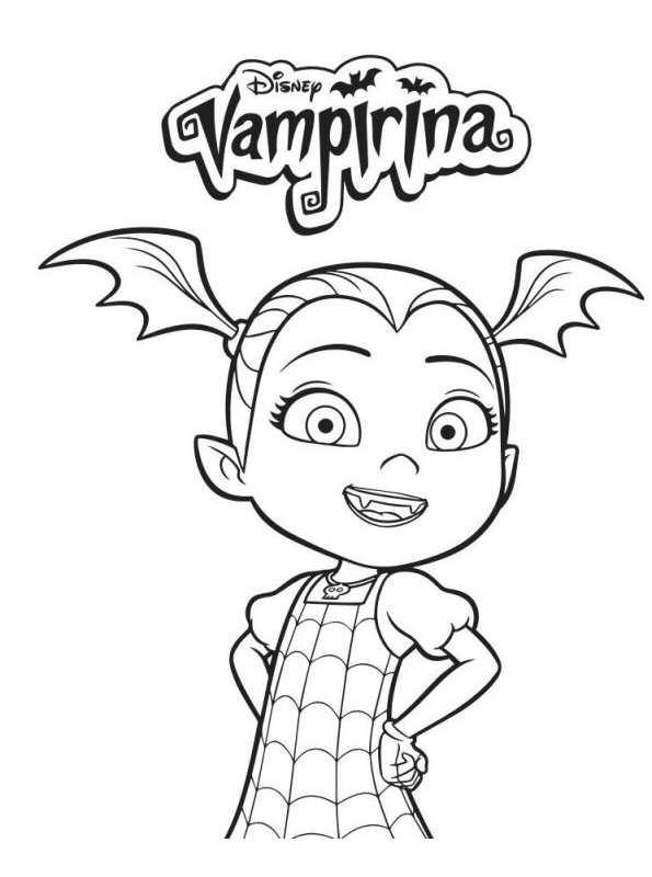 kids n fun coloring page vampirina vampirina