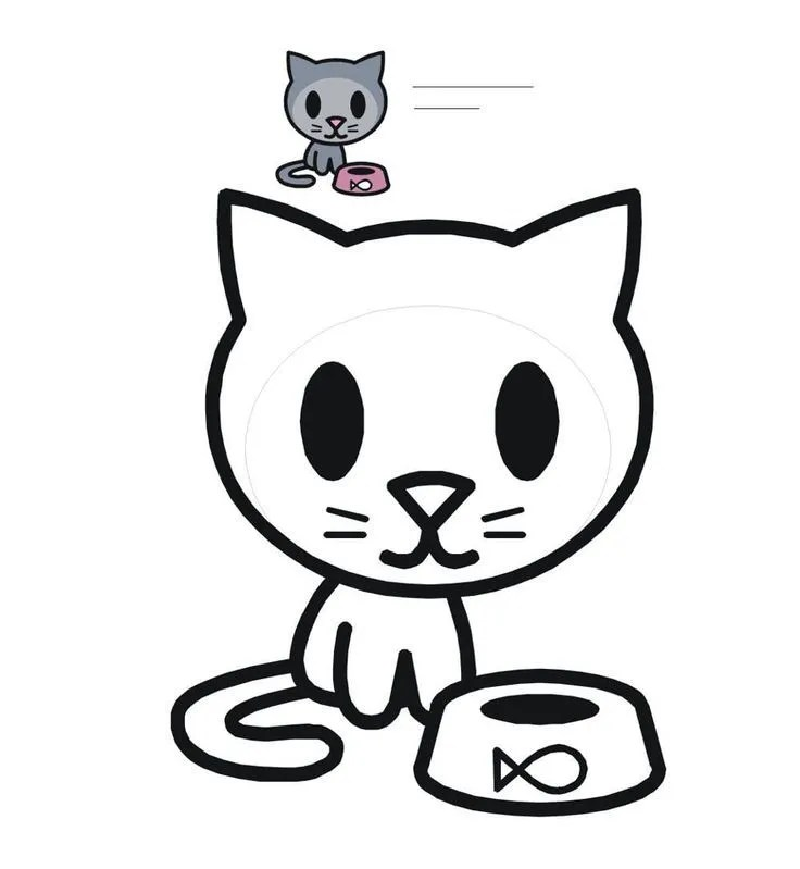 kitty cat coloring pages printable animal coloring cat