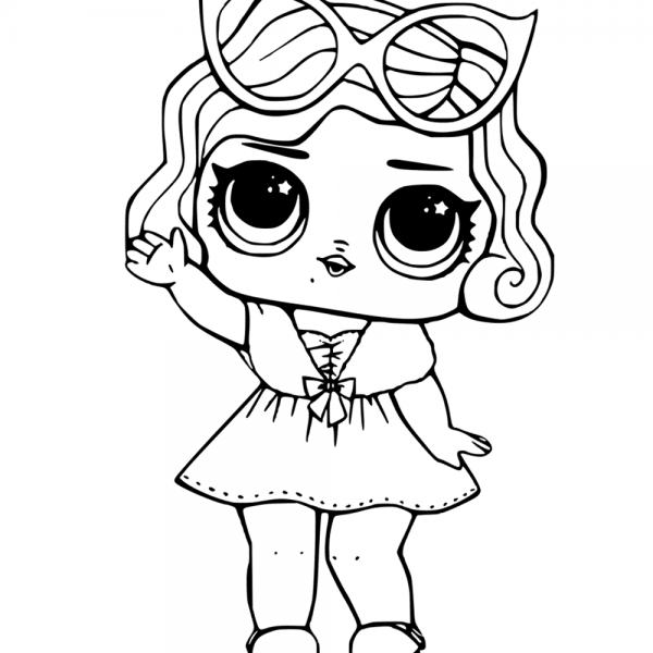 leading ba from lol surprise doll coloring pages ba