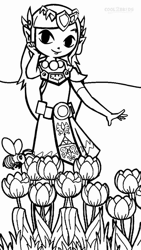 legend of zelda coloring page elegant printable zelda
