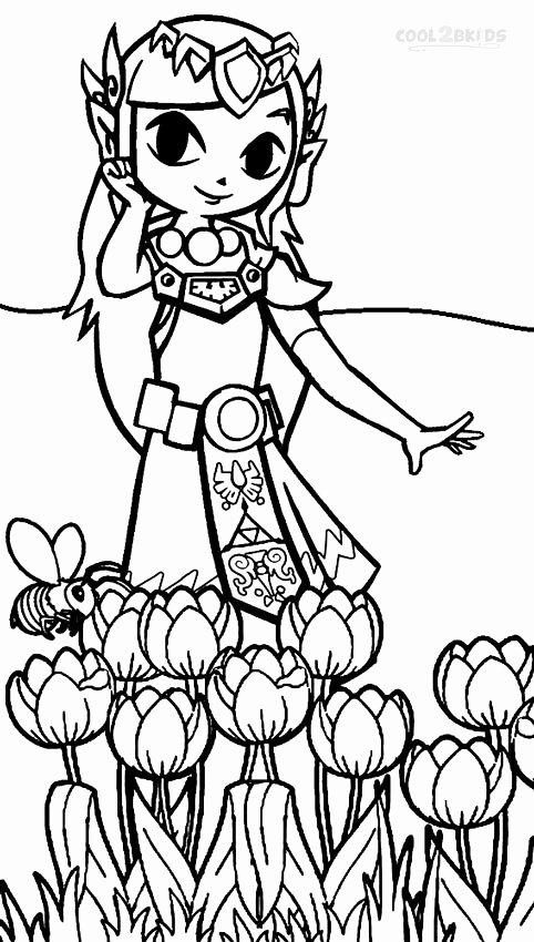 legend of zelda coloring page elegant printable zelda